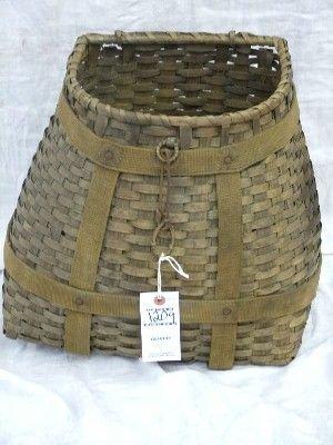 1209: Mikmak Native  American  Back Pack Creel Basket