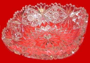 94: Signed Hawkes Hand Cut Crystal Bowl