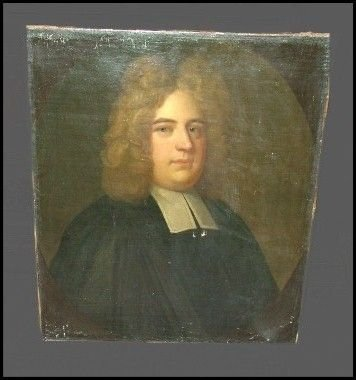 80: 18th Century Oil On Canvas Portrait Of Bach