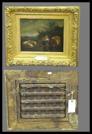 83: 17th  Century Oil On Panel By A Van De Velde