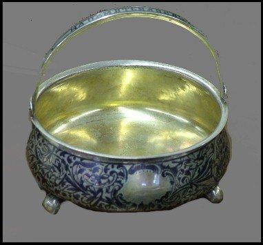 85: 19th Century Russian Hinged Basket