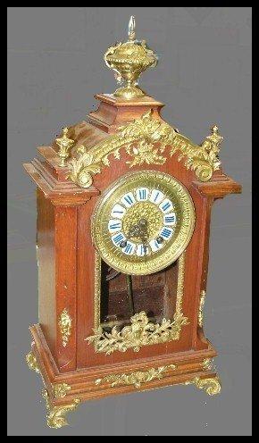 88: 19th Century German Bronze Mounted & Mahogany Clock