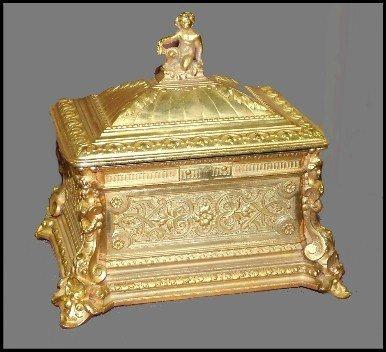 92: 19th Century Dore Bronze Casket
