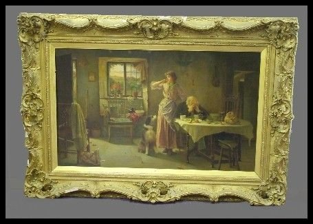 93: 19th Century Oil On Canvas Signed Carlton A Smith