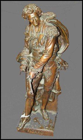 94: 19th Century Bronze Sculpture Titled Figaro