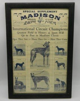 Original Madison Kennel Club Racing Form August 28,