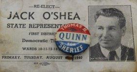 Thomas H. Quinn For Sheriff Pin