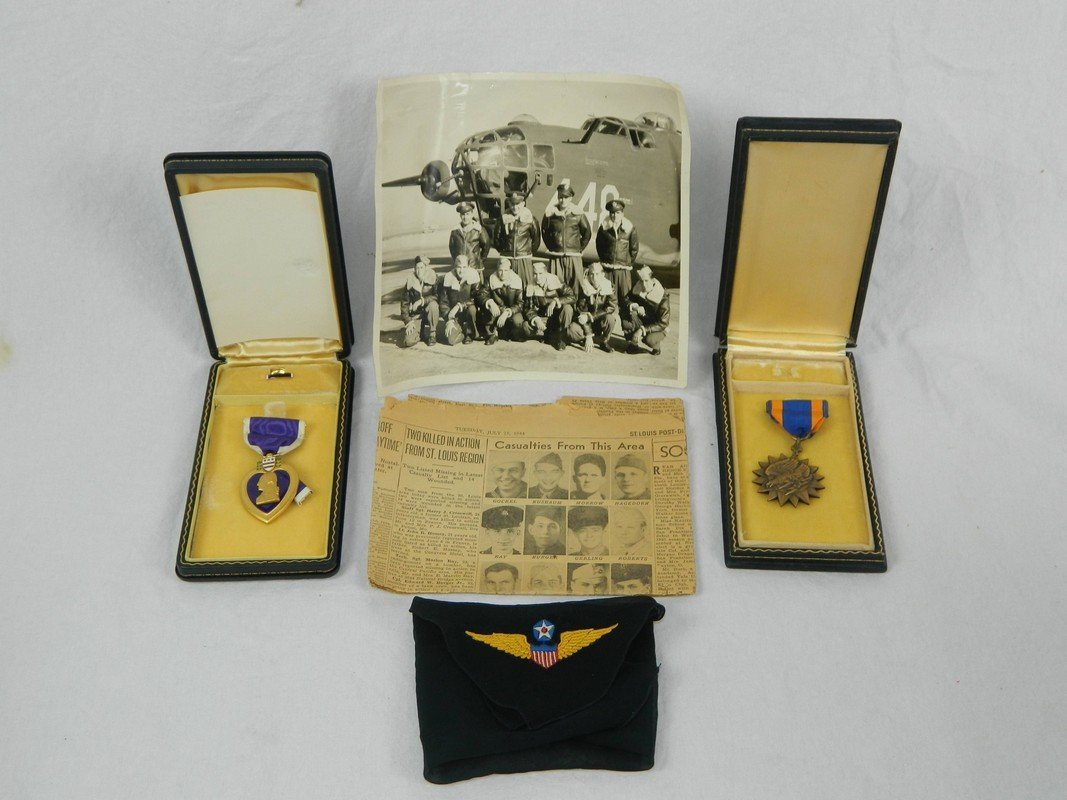 WWII Purple Heart, Air Medal and Provenance Collection