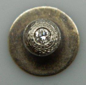Yellow Gold And Diamond Buttonhole Stud