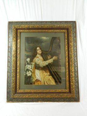 Large Wooden Victorian Picture Frame