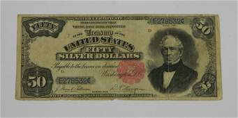 Very Rare 1891 Fifty Dollar Silver Certificate