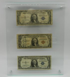 Lot Of Three 1935 Silver Certificates