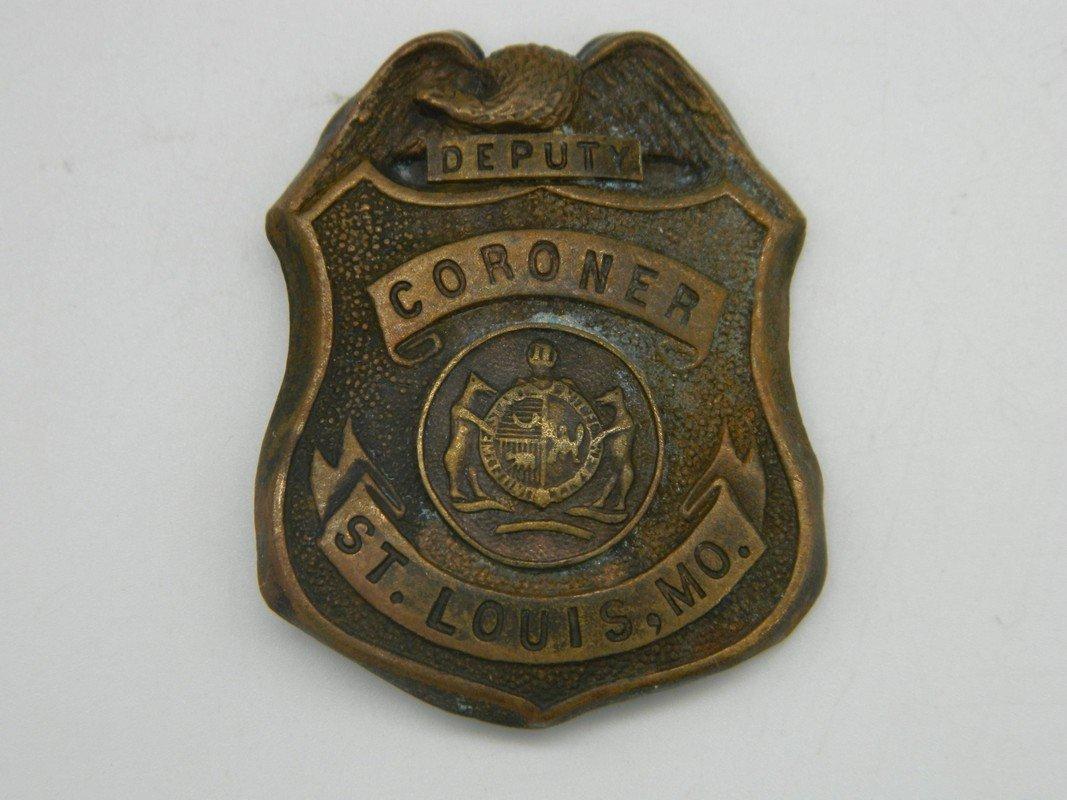Late 1800's St. Louis Missouri Deputy Coroner Badge