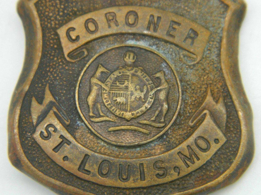 Late 1800's St. Louis Missouri Deputy Coroner Badge - 2