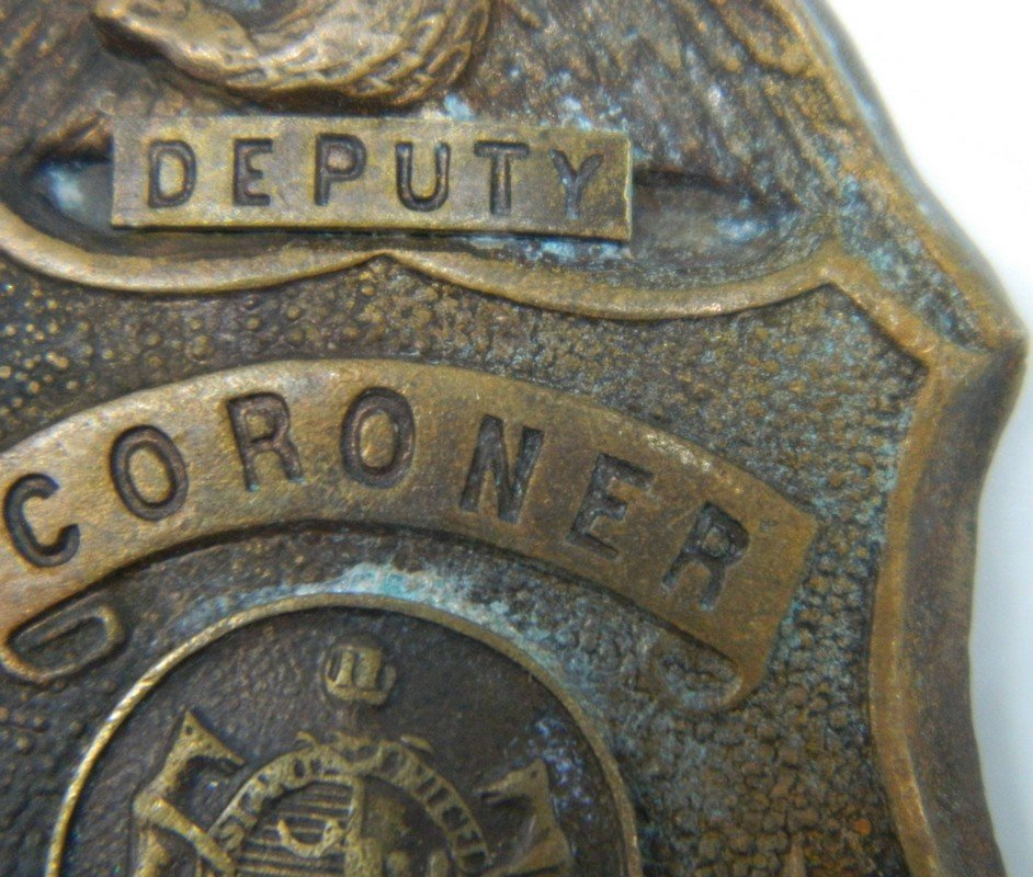 Late 1800's St. Louis Missouri Deputy Coroner Badge - 4