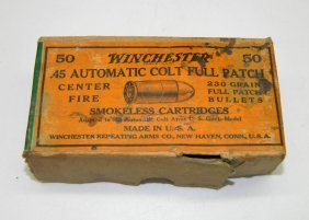 Vintage Winchester .45 Automatic Colt Full Patch