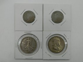 Lot Of Four Silver U.s. Coins