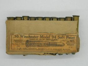 Complete Box Of .30 Winchester Model 94 Soft Point