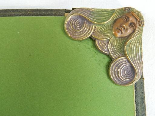 Art Nouveau Maiden Lady Desk Blotter Pad - 2