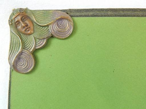 Art Nouveau Maiden Lady Desk Blotter Pad - 4