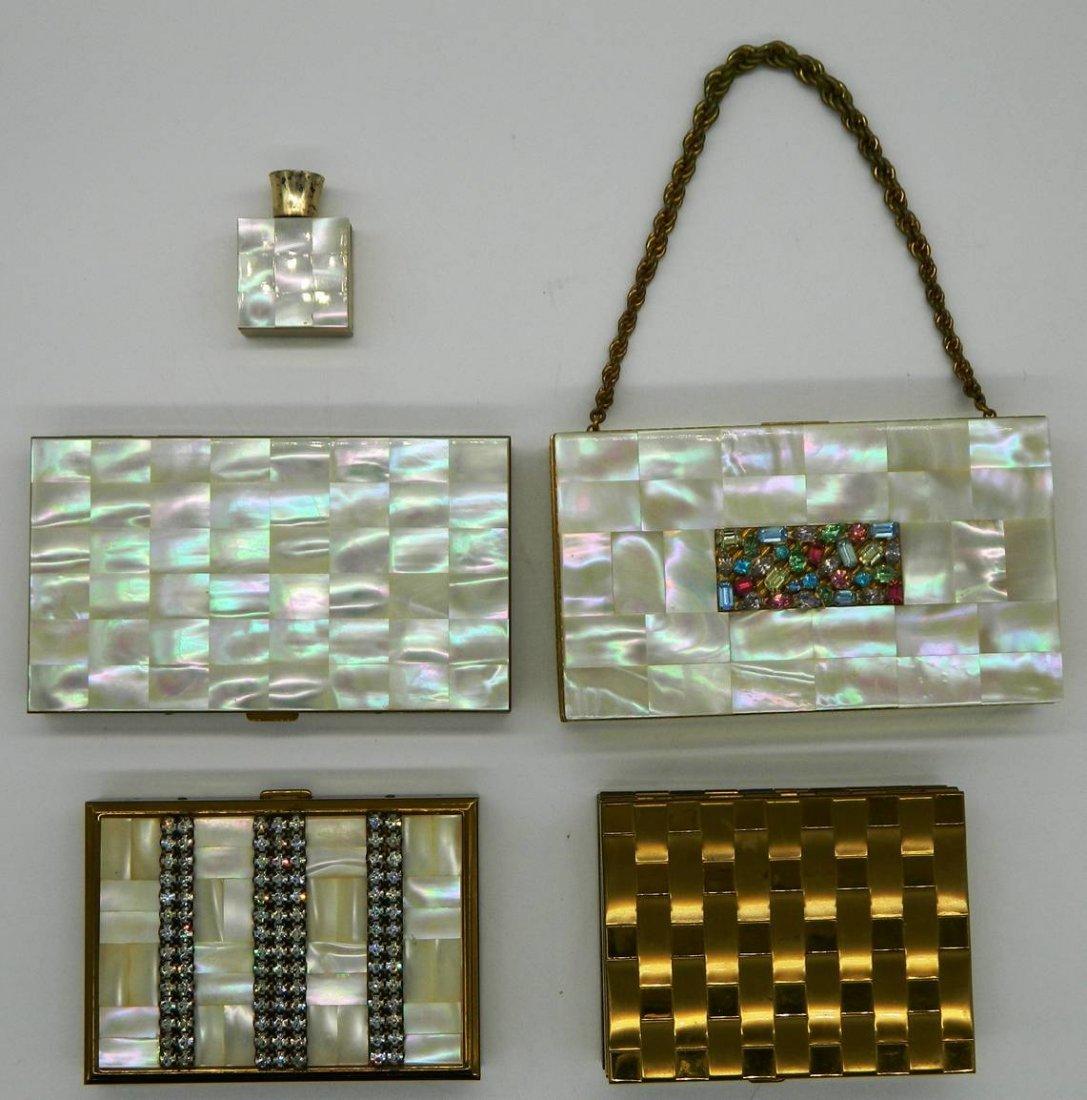 Evans Elegance Vintage Compact, Clutch, Cigarette Case