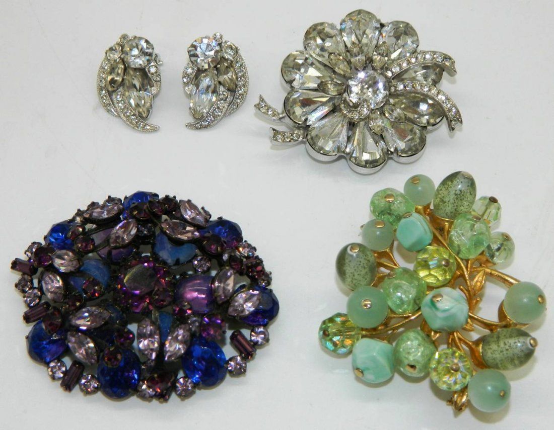 High End Signed Costume Jewelry Lot Eisenberg, Coro,