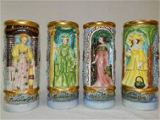 Set of (4) Rare, Hand Painted,  Anheuser-Busch 1973