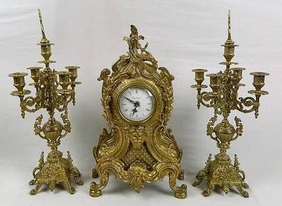 Imperial Garniture Set Mantel Clock and Candelabras - 2