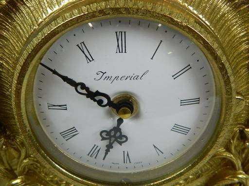 Imperial Garniture Set Mantel Clock and Candelabras - 4