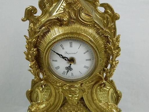 Imperial Garniture Set Mantel Clock and Candelabras - 6