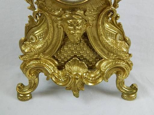 Imperial Garniture Set Mantel Clock and Candelabras - 7