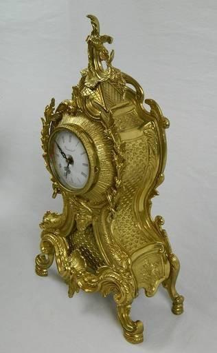 Imperial Garniture Set Mantel Clock and Candelabras - 8