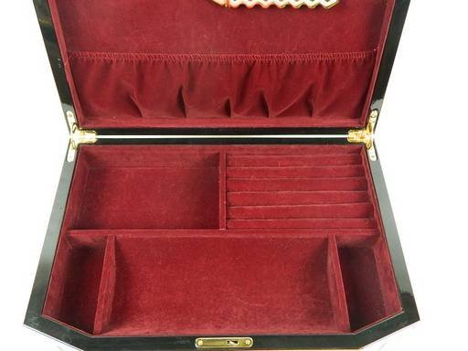 Constantine Jewelry Box, Chest, Two Tone Cherry - 9