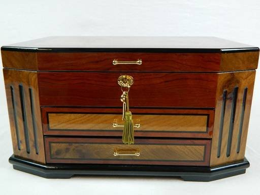 Constantine Jewelry Box, Chest, Two Tone Cherry - 5