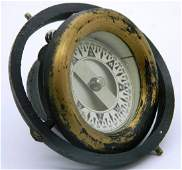 Vintage US Working Brass Binnacle Nautical Ship