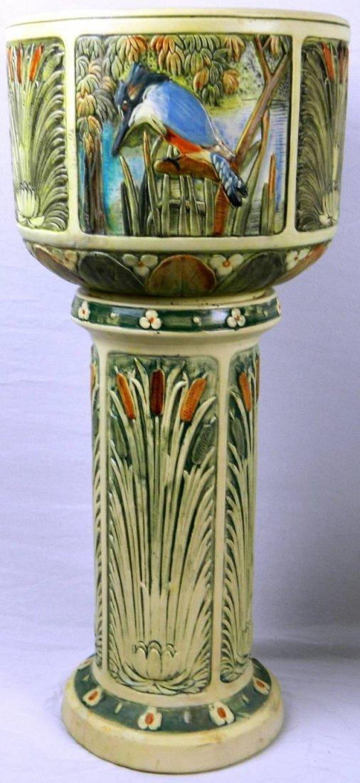 Ultra Rare Weller Pottery Zona Kingfisher Large