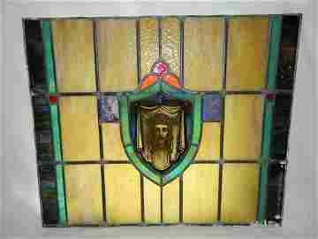 18th. - 19th. Century  Original Salvaged Stained Glass