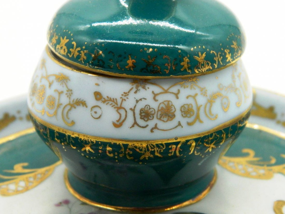 Hand Painted Porcelain Inkwell - 3