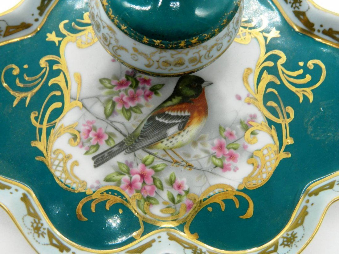Hand Painted Porcelain Inkwell - 4