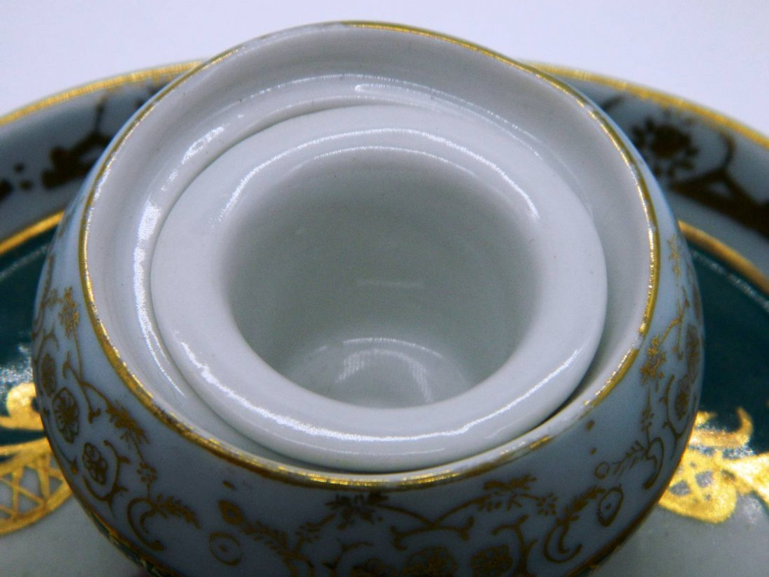 Hand Painted Porcelain Inkwell - 6