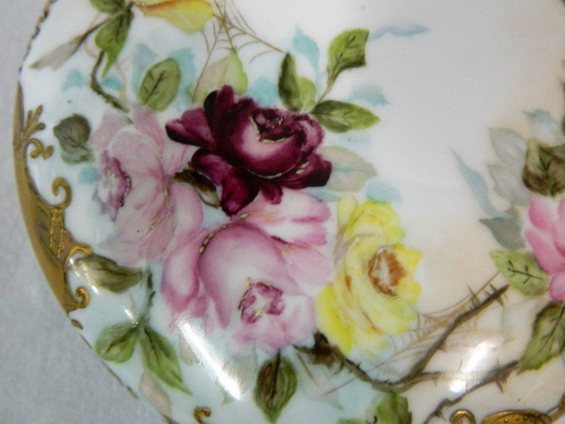 Large Limoges Porcelain Victorian Dresser Powder Box - 3