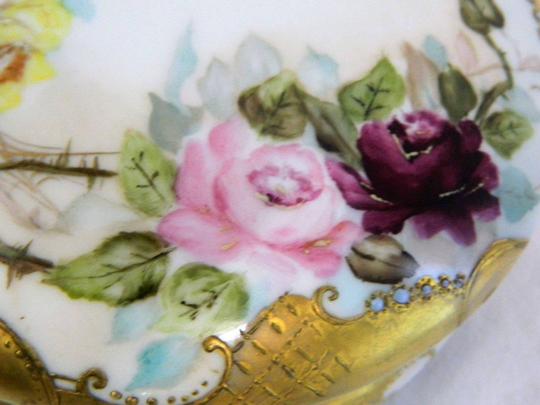 Large Limoges Porcelain Victorian Dresser Powder Box - 4