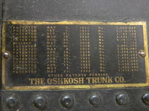 Vintage Oshkosh Wardrobe Steamer Trunk - 3