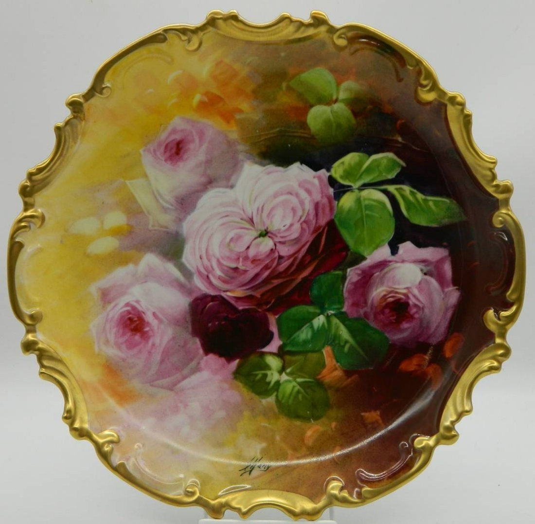 Limoges Hand Painted Wall Plate
