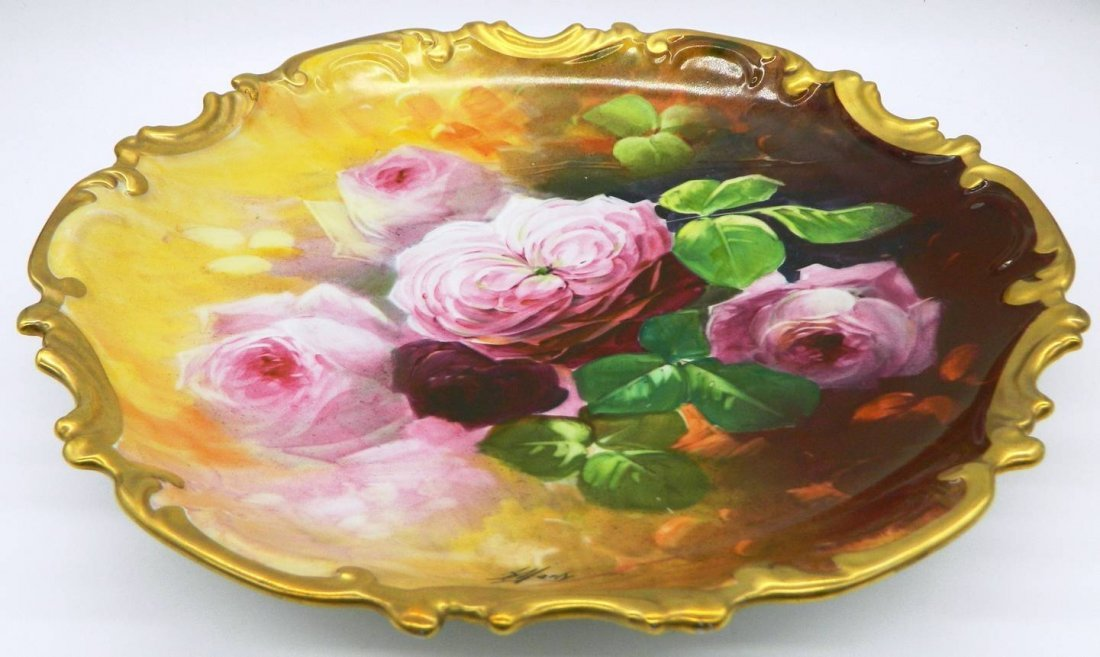 Limoges Hand Painted Wall Plate - 5