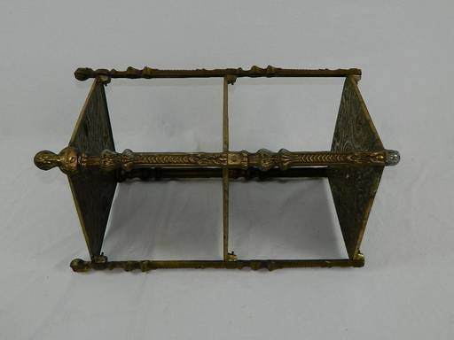 Vintage Cherub Three Tier Brass Shelf Table With Art - 10