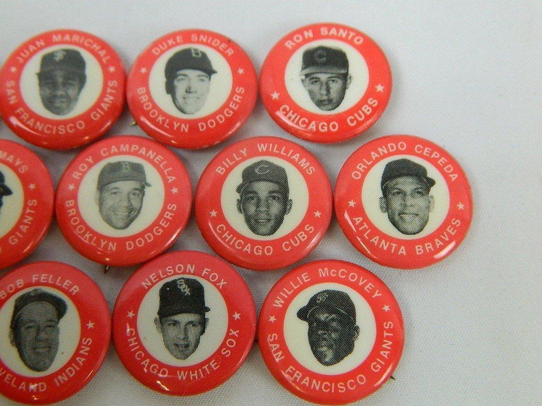 Lot of 15 Red Vintage Baseball Pinbacks - 4