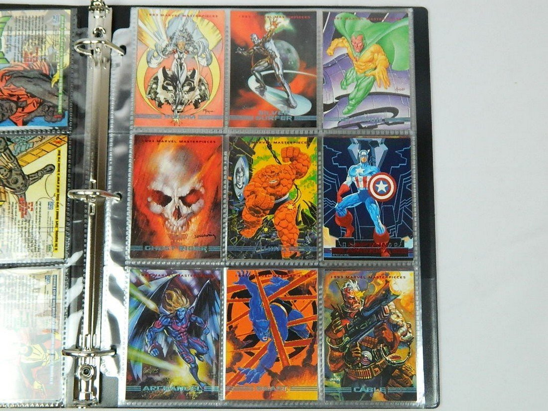 1993 Marvel Masterpieces Card Complete Set - 2
