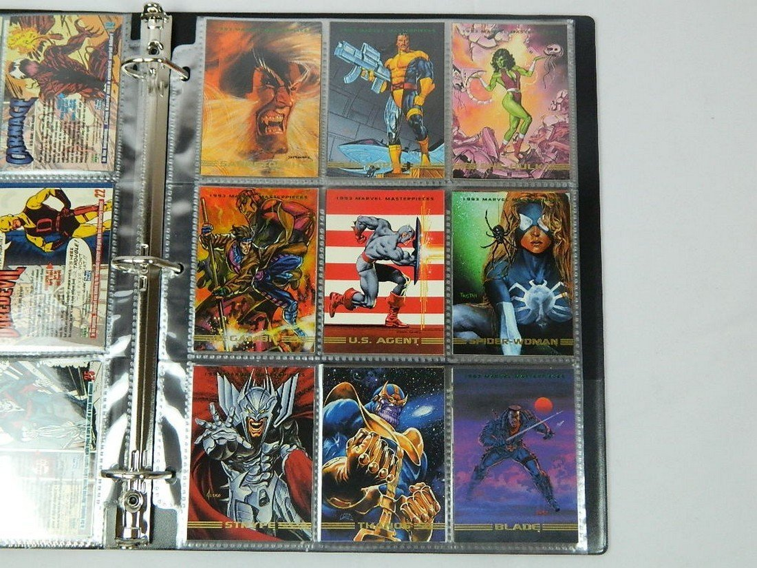 1993 Marvel Masterpieces Card Complete Set - 4