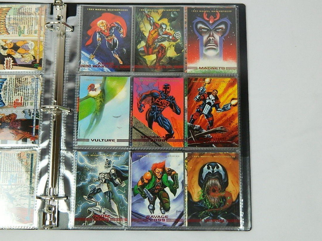 1993 Marvel Masterpieces Card Complete Set - 5
